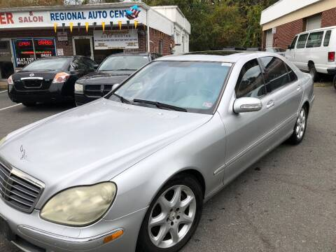 2003 Mercedes-Benz S-Class for sale at REGIONAL AUTO CENTER in Stafford VA