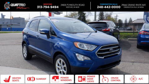 2018 Ford EcoSport for sale at Quattro Motors 2 - 1 in Redford MI