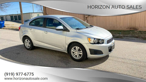 2012 Chevrolet Sonic for sale at Horizon Auto Sales in Raleigh NC