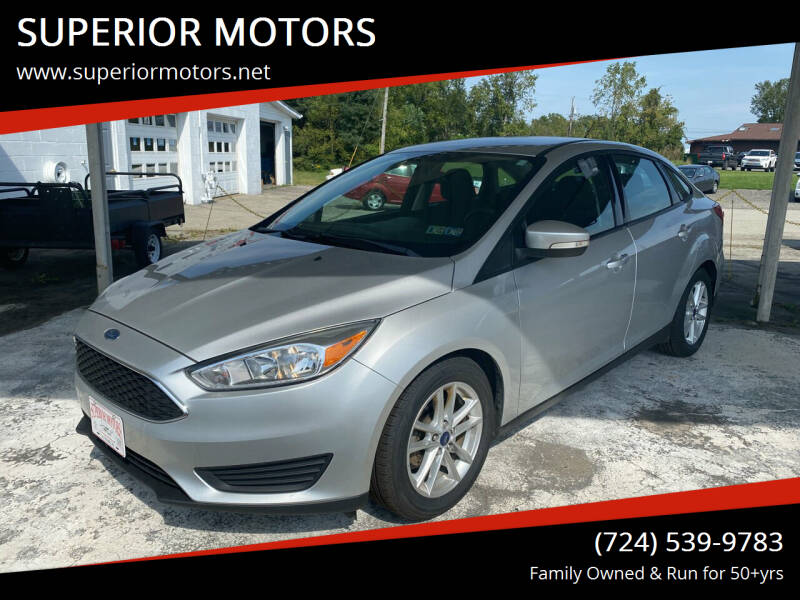 2016 Ford Focus for sale at SUPERIOR MOTORS in Latrobe PA