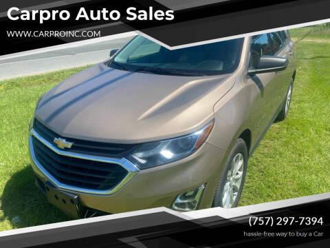 2018 Chevrolet Equinox for sale at Carpro Auto Sales in Chesapeake VA