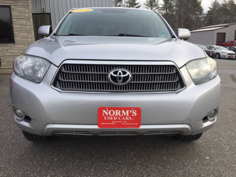 2009 Toyota Highlander Hybrid for sale at NORM'S USED CARS INC in Wiscasset ME