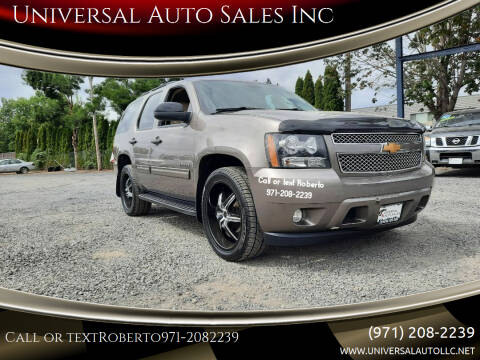 2012 Chevrolet Tahoe for sale at Universal Auto Sales Inc in Salem OR