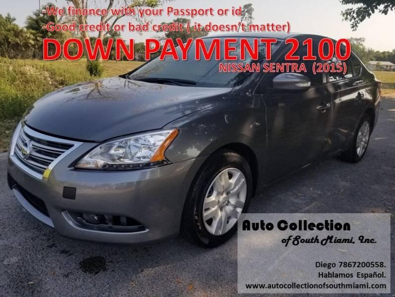 2015 Nissan Sentra for sale at AUTO COLLECTION OF SOUTH MIAMI in Miami FL