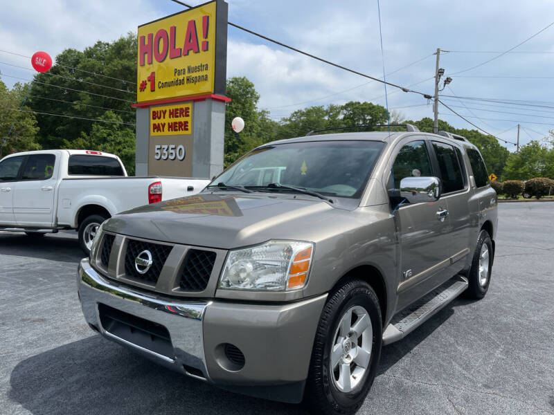 2006 Nissan Armada for sale at No Full Coverage Auto Sales in Austell GA