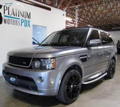 2012 Land Rover Range Rover Sport for sale at Platinum Motors in Portland OR