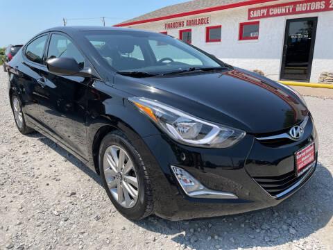 2014 Hyundai Elantra for sale at Sarpy County Motors in Springfield NE