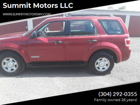 2008 Ford Escape for sale at Summit Motors LLC in Morgantown WV