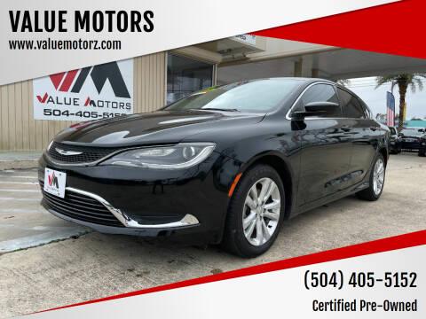 2015 Chrysler 200 for sale at VALUE MOTORS in Kenner LA