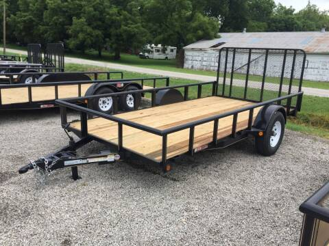 "2021 GRTrailers 82""x14' 5.2k UTV RZR trailer w for sale at Bailey Auto in Pomona KS"