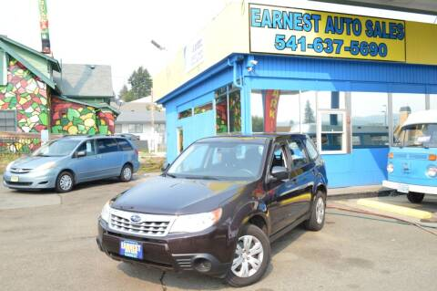 2013 Subaru Forester for sale at Earnest Auto Sales in Roseburg OR