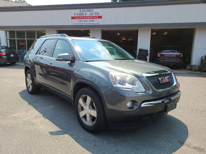 2011 GMC Acadia for sale at Landes Family Auto Sales in Attleboro MA