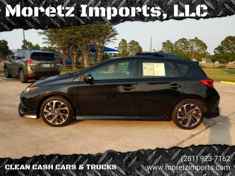 2017 Toyota Corolla iM for sale at Moretz Imports, LLC in Spring TX