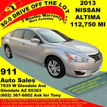 2013 Nissan Altima for sale at 911 AUTO SALES LLC in Glendale AZ