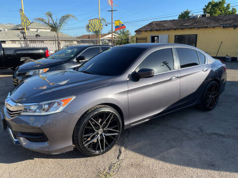 2016 Honda Accord for sale at JR'S AUTO SALES in Pacoima CA