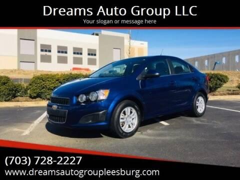 2013 Chevrolet Sonic for sale at Dreams Auto Sales LLC in Leesburg VA