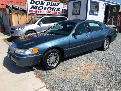2001 Lincoln Town Car for sale at DON DIAZ MOTORS in San Diego CA