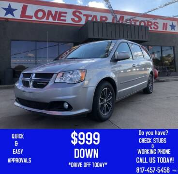 2017 Dodge Grand Caravan for sale at LONE STAR MOTORS II in Fort Worth TX