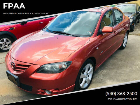 2004 Mazda MAZDA3 for sale at FPAA in Fredericksburg VA