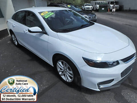 2018 Chevrolet Malibu for sale at Jon's Auto in Marquette MI