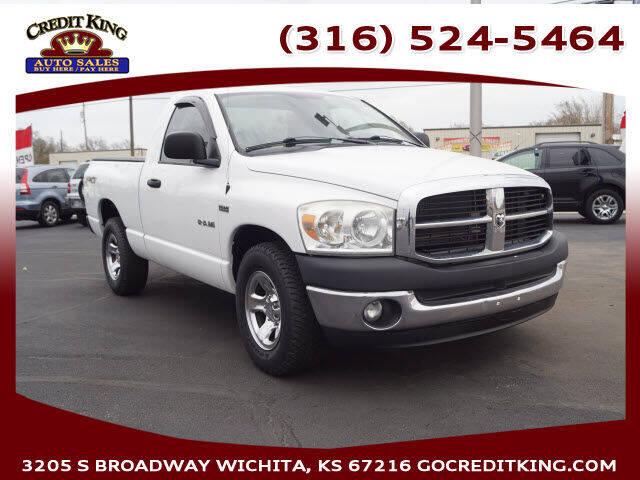 2008 Dodge Ram Pickup 1500 for sale at Credit King Auto Sales in Wichita KS