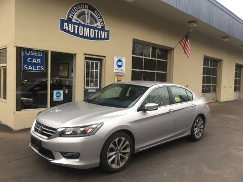 2013 Honda Accord for sale at HUDSON ROAD AUTOMOTIVE in Stow MA