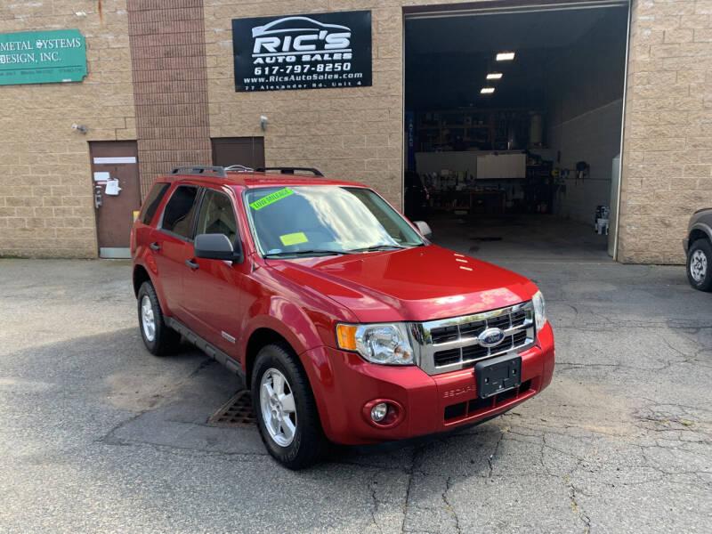 2008 Ford Escape for sale at Ric's Auto Sales in Billerica MA