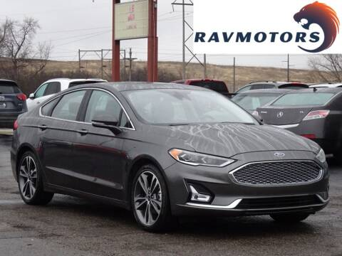 2020 Ford Fusion for sale at RAVMOTORS in Burnsville MN