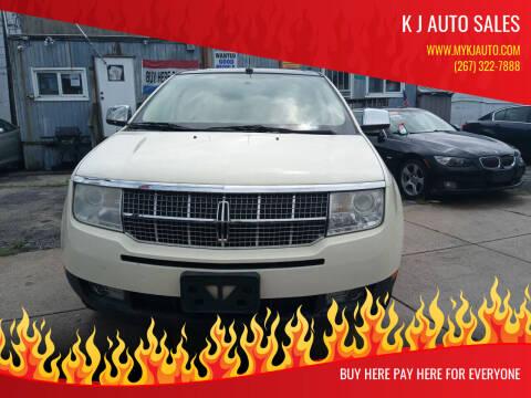 2008 Lincoln MKX for sale at K J AUTO SALES in Philadelphia PA
