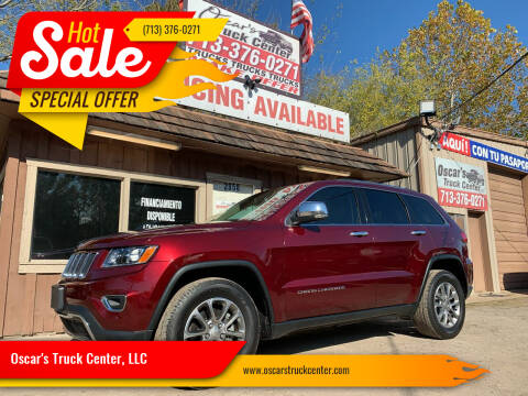 2016 Jeep Grand Cherokee for sale at Oscar's Truck Center, LLC in Houston TX