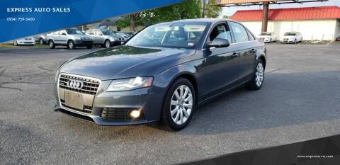 2010 Audi A4 for sale at EXPRESS AUTO SALES in Midlothian VA