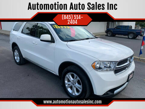 2011 Dodge Durango for sale at Automotion Auto Sales Inc in Kingston NY