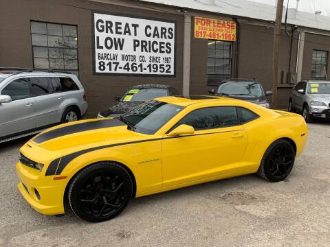 2011 Chevrolet Camaro for sale at BARCLAY MOTOR COMPANY in Arlington TX