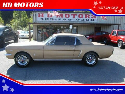 1965 Ford Mustang for sale at HD MOTORS in Kingsport TN