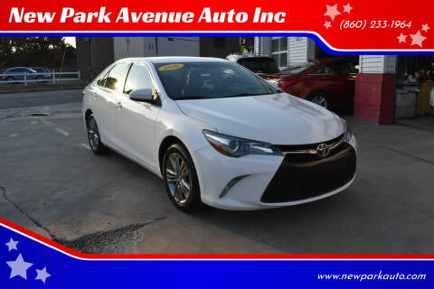2016 Toyota Camry for sale at New Park Avenue Auto Inc in Hartford CT