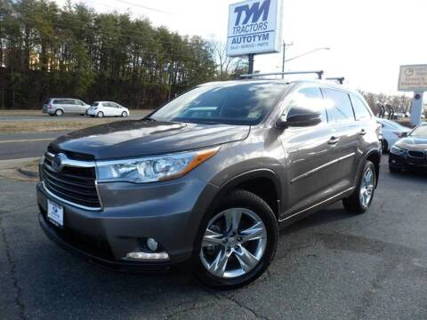 2015 Toyota Highlander Hybrid for sale at AUTOTYM INC in Fredericksburg VA