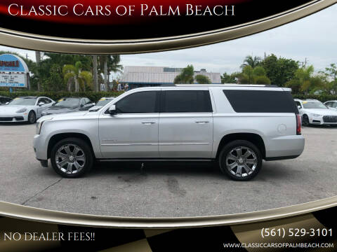 2015 GMC Yukon XL for sale at Classic Cars of Palm Beach in Jupiter FL