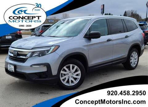 2019 Honda Pilot for sale at CONCEPT MOTORS INC in Sheboygan WI