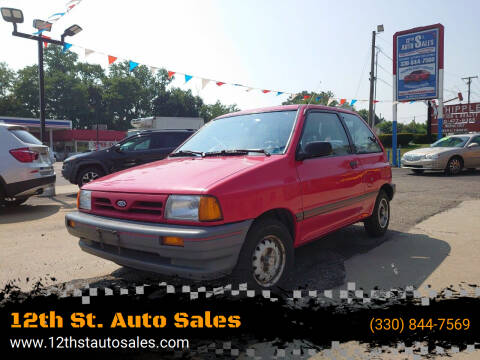 1990 Ford Festiva for sale at 12th St. Auto Sales in Canton OH