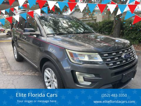 2017 Ford Explorer for sale at Elite Florida Cars in Tavares FL