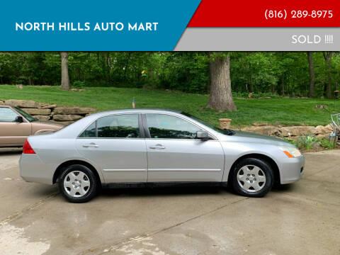 2006 Honda Accord for sale at NORTH HILLS AUTO MART in Kansas City MO