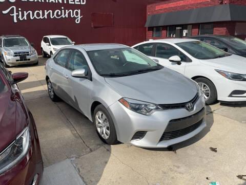 2015 Toyota Corolla for sale at MTA Auto in Detroit MI