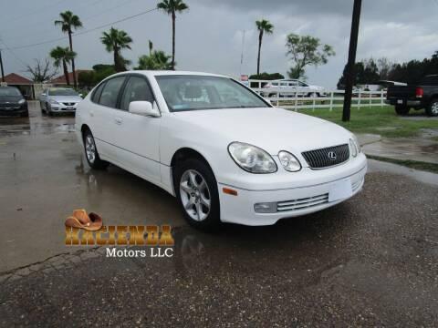 2004 Lexus GS 300 for sale at HACIENDA MOTORS, LLC in Brownsville TX