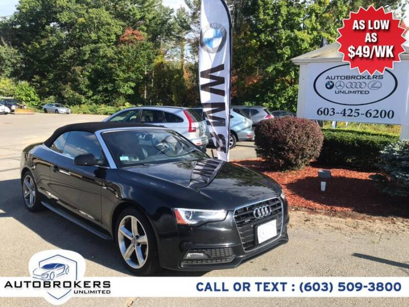 2015 Audi A5 for sale at Auto Brokers Unlimited in Derry NH