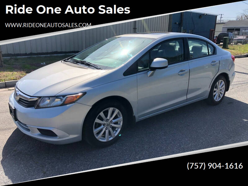 2012 Honda Civic for sale at Ride One Auto Sales in Norfolk VA