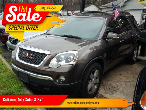 2009 GMC Acadia for sale at Coliseum Auto Sales & SVC in Charlotte NC
