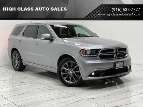 2015 Dodge Durango for sale at HIGH CLASS AUTO SALES in Rancho Cordova CA