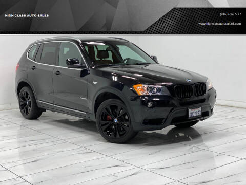 2013 BMW X3 for sale at HIGH CLASS AUTO SALES in Rancho Cordova CA