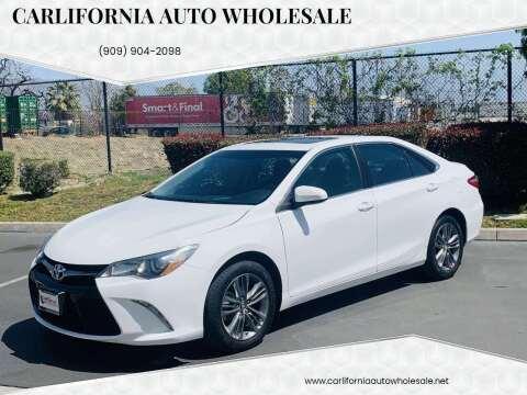 2017 Toyota Camry for sale at CARLIFORNIA AUTO WHOLESALE in San Bernardino CA