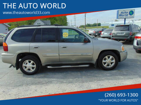 2002 GMC Envoy for sale at THE AUTO WORLD in Churubusco IN